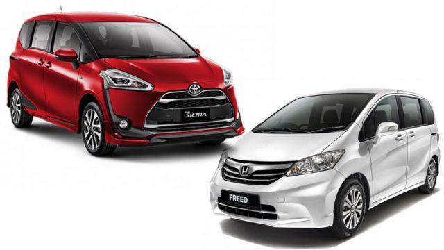 Toyota Sienta Vs Honda Freed Japanese Hybrid Mpvs Go Head To Head