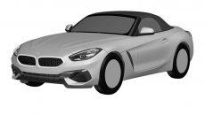 2019 BMW Z4 roadster patent drawings 1