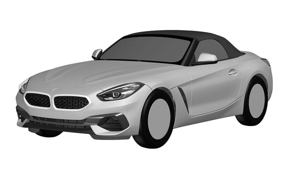 2019 BMW Z4 roadster patent drawings 1