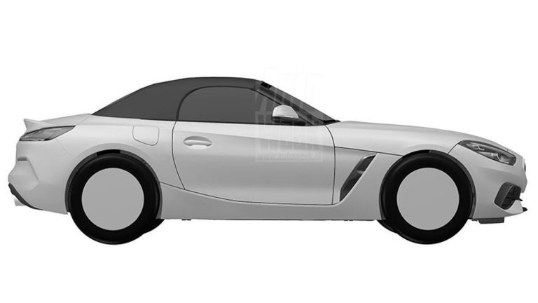 2019 BMW Z4 roadster patent drawings 2