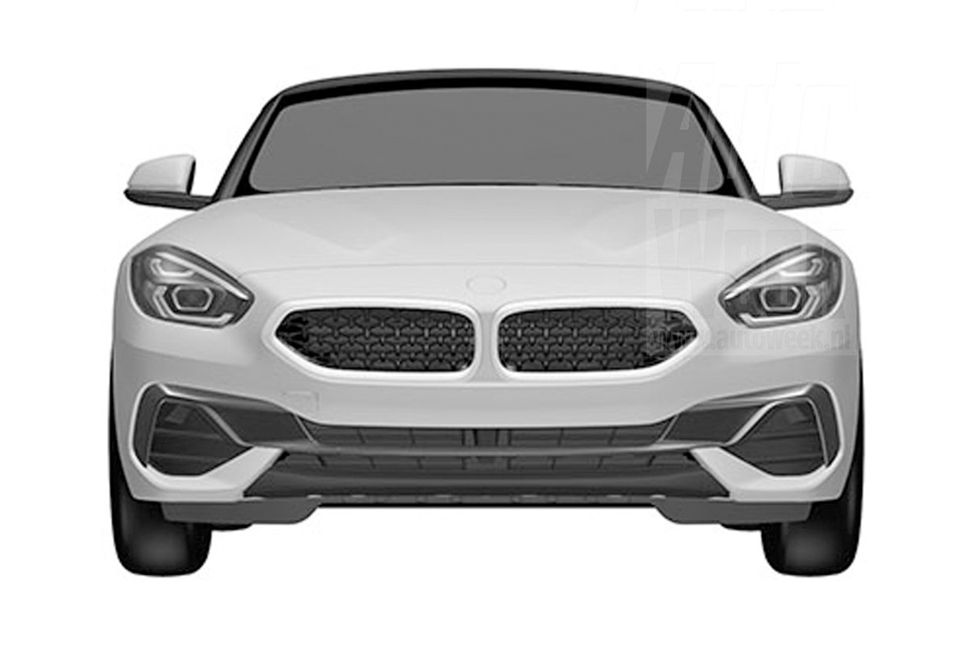 2019 BMW Z4 roadster patent drawings 4