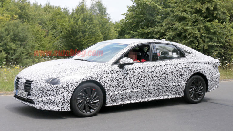 Hyundai Sonata 2020 spied lapping the Nürburgring 1