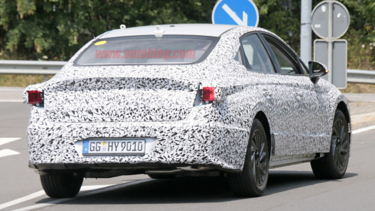 Hyundai Sonata 2020 spied lapping the Nürburgring 2
