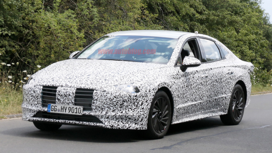 Hyundai Sonata 2020 spied lapping the Nürburgring 3
