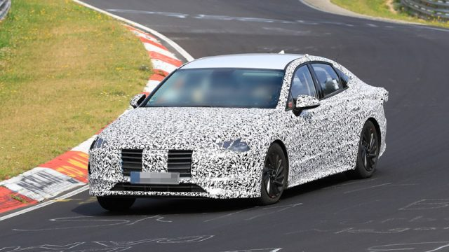 Hyundai Sonata 2020 spied lapping the Nürburgring 7