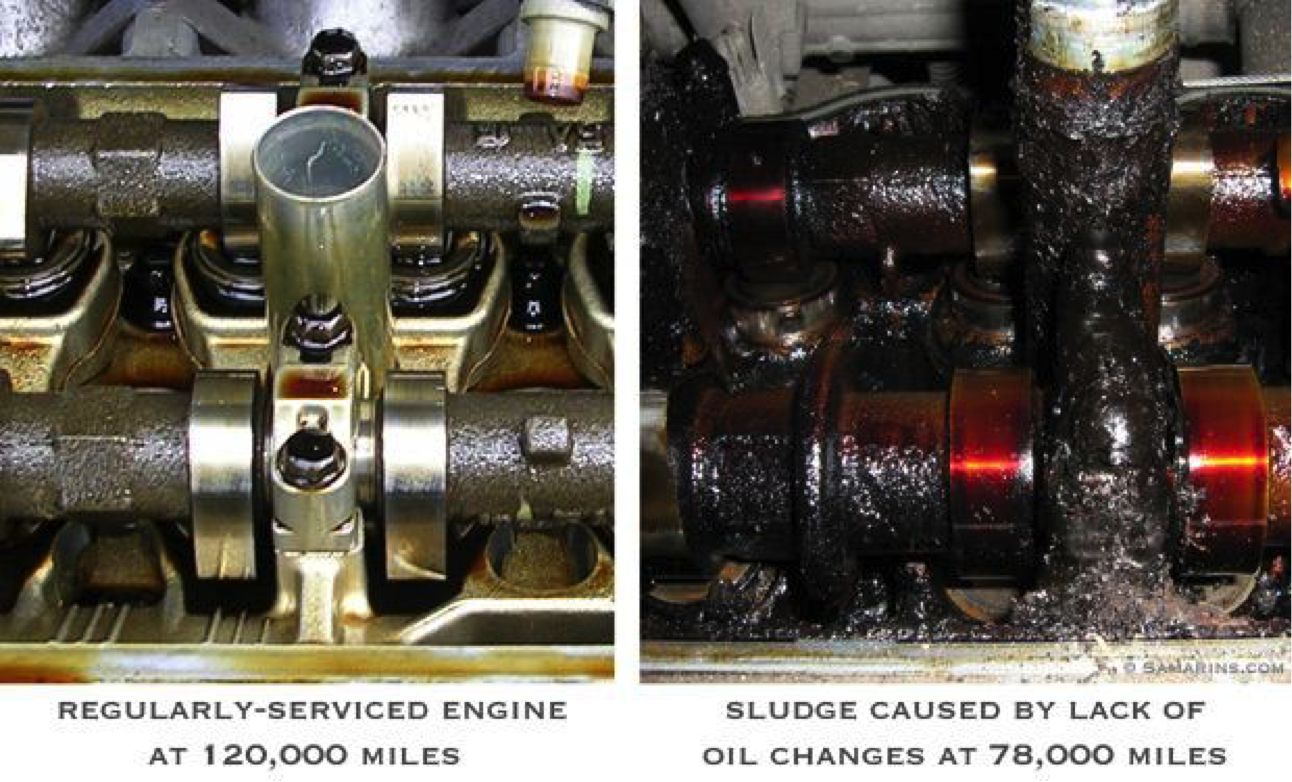 dirty vs clean engine oil
