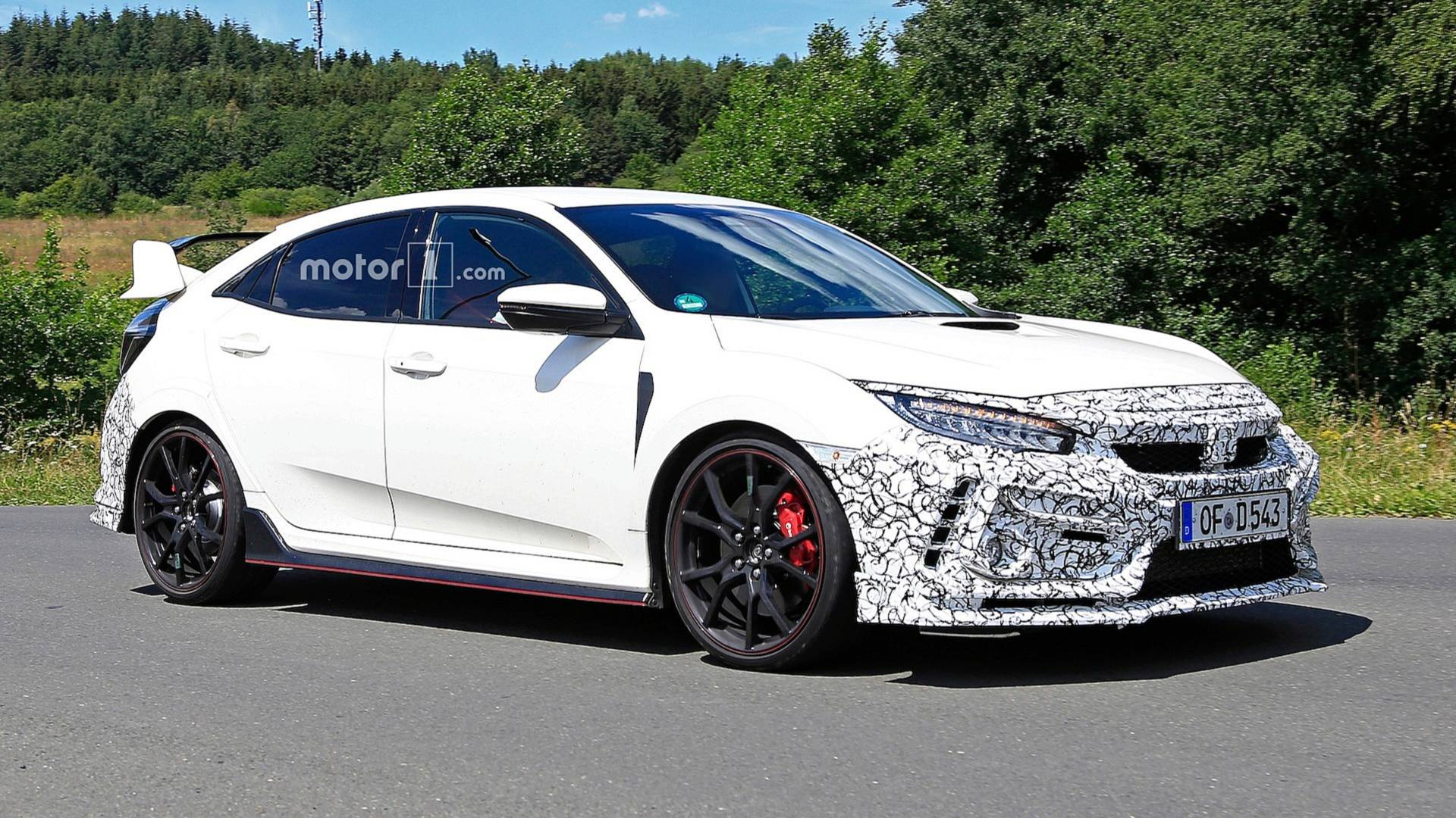 honda civic 2019 type r spy shots (5)