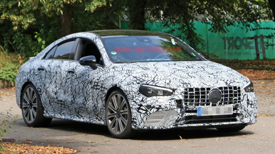 Spy shots of a Mercedes AMG CLA 45 test car 2