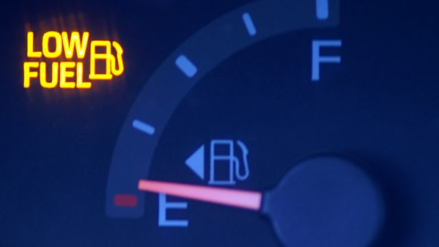 low fuel indication