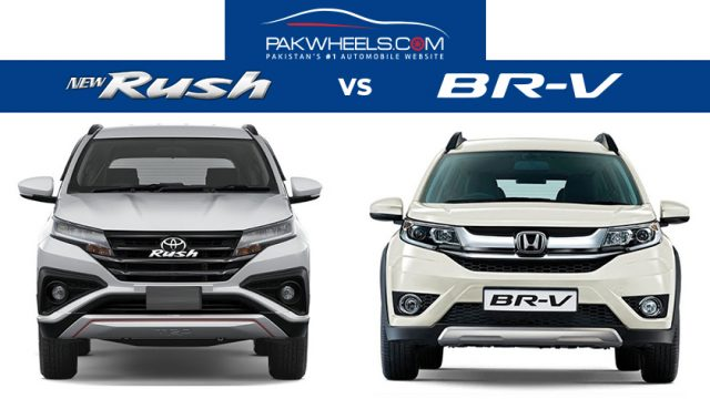 Toyota Rush Vs Honda Br V A Brief Comparison Pakwheels Blog