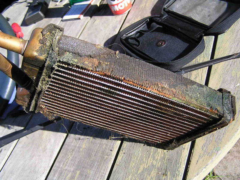 leaking-heater-core