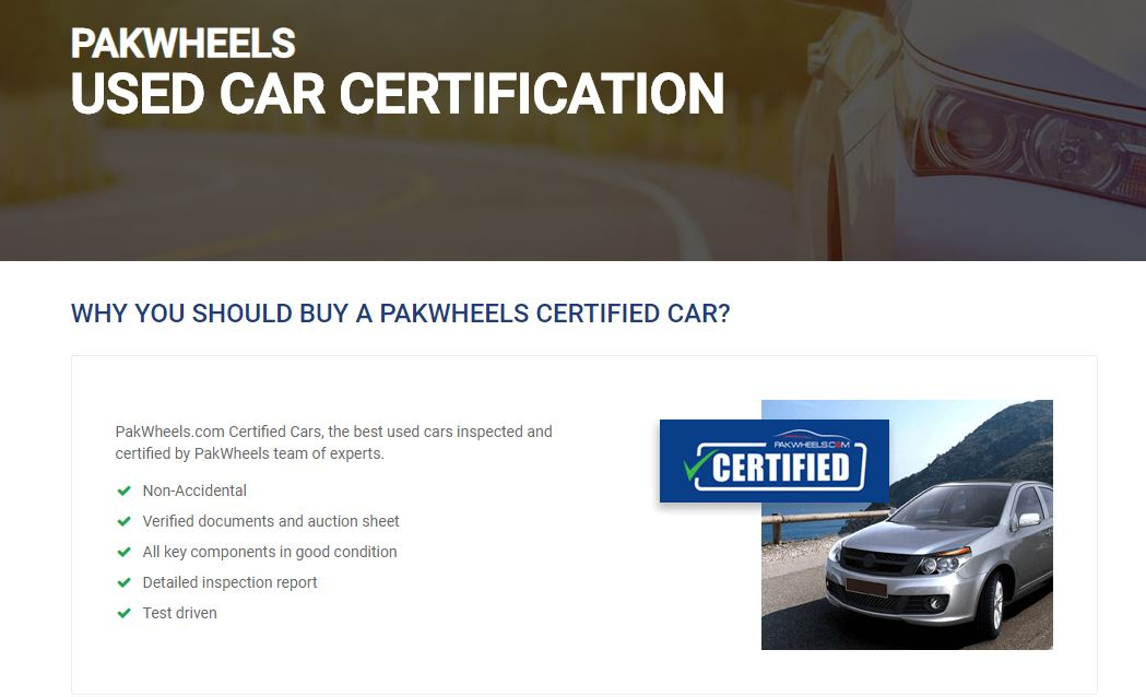 used cars certification
