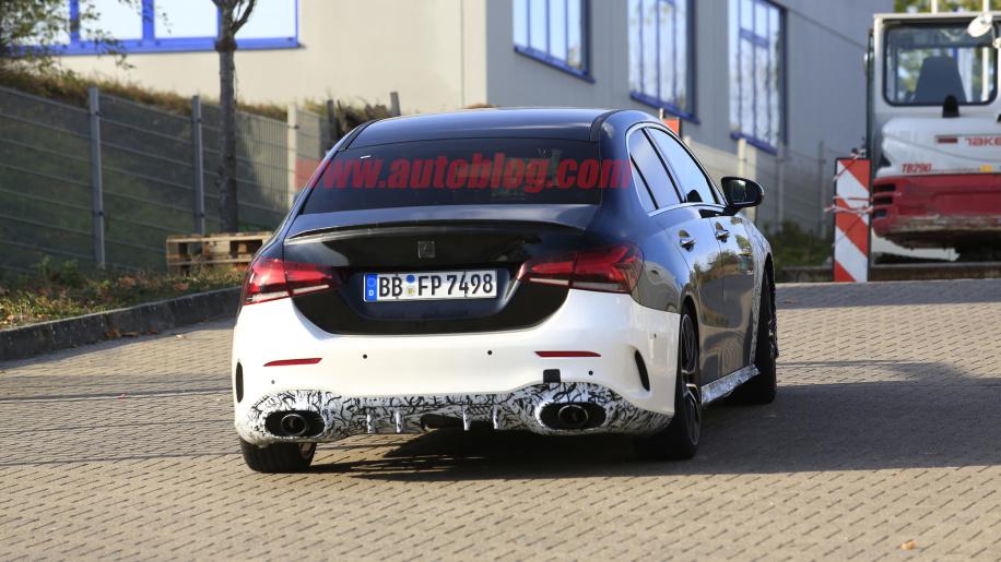2019 Mercedes-AMG A 35 sedan spied - PakWheels Blog