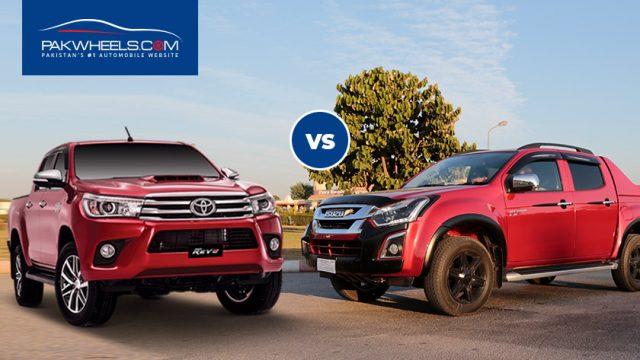 Toyota Revo Vs Isuzu D Max A Brief Comparison Pakwheels Blog