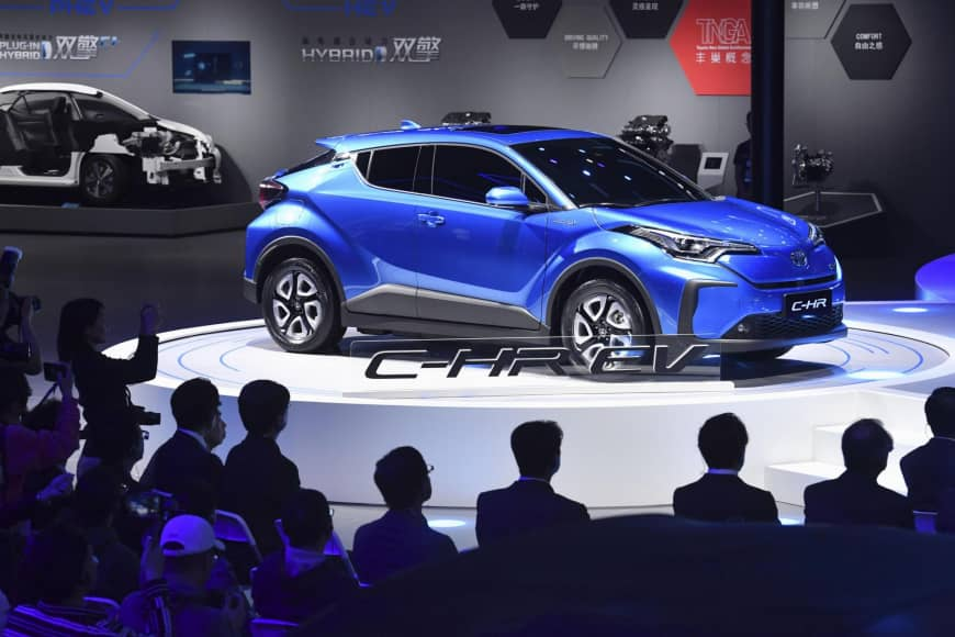 After The Earlier Success Of Hybrid Corolla And Prius Models Toyota Has Displayed Electric Ed C Hr Ev At Auto Show It Will Initially Be Only For