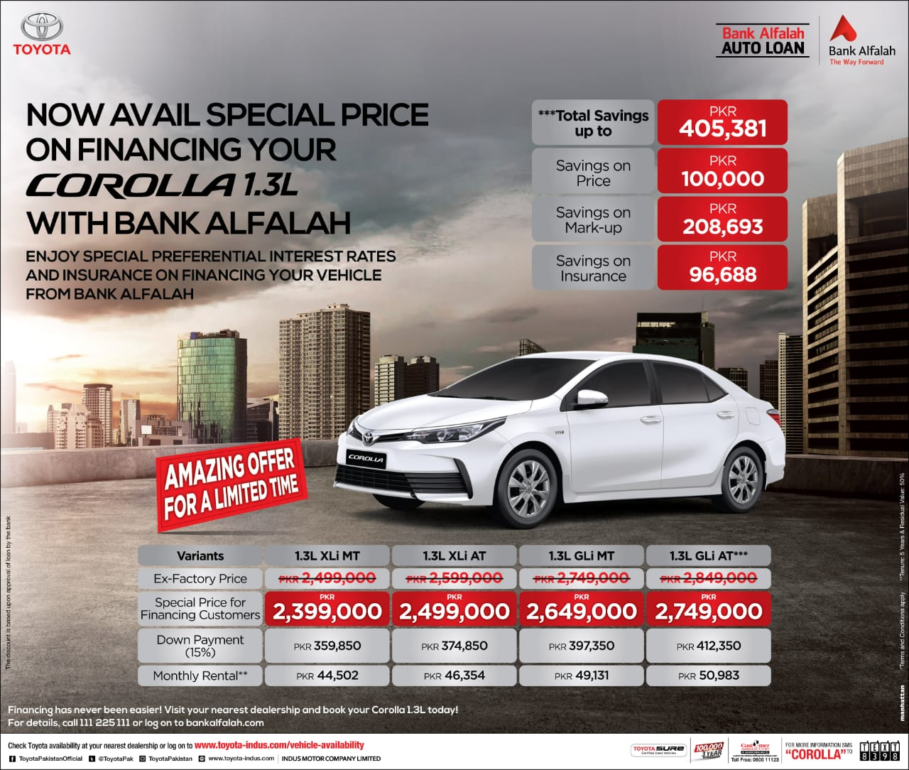Toyota Financing Deals >> Imc Offers A Special Discount On 1 3l Variants Of Corolla