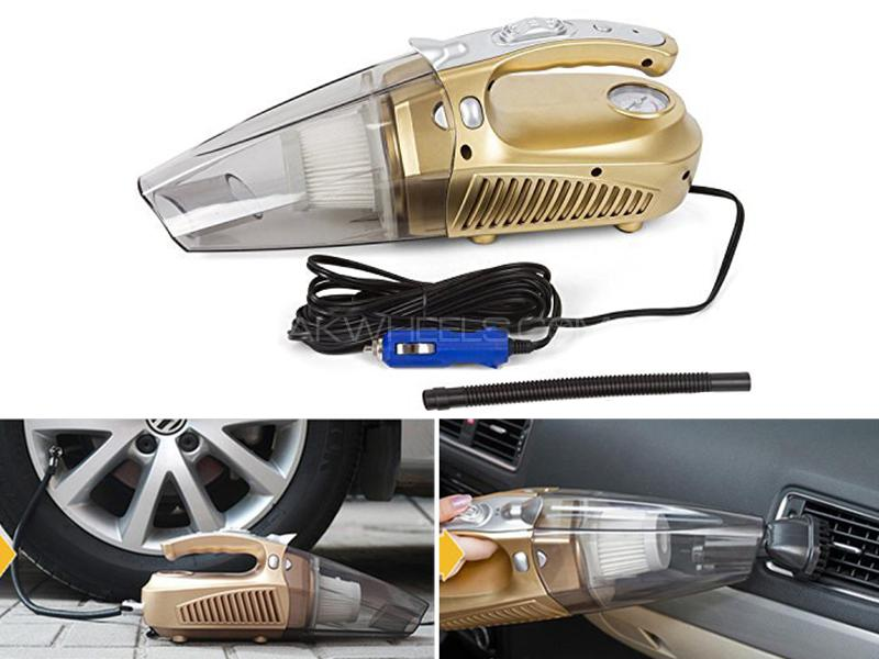 Heavy Duty 4 In 1 Portable Car Vacuum Cleaner & Tire Inflator sale