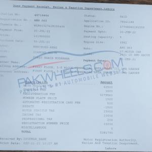 Most expensive car registration in Punjab