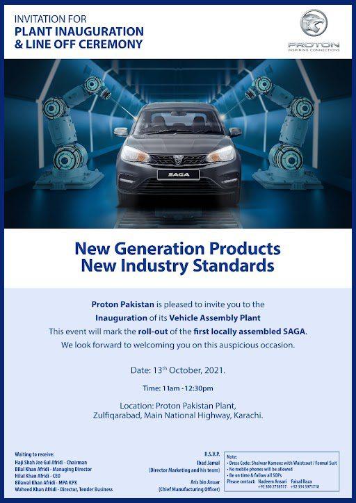 CKD Proton Saga Roll Out
